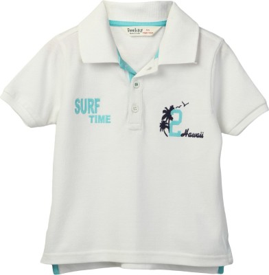Beebay Embroidered Boy's Polo Neck T-Shirt