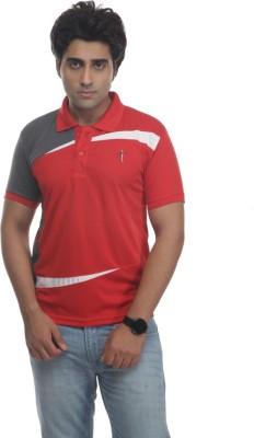 TT Self Design Men's Polo Neck Reversible T-Shirt