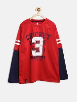612 League Graphic Print Boy's Round Neck T-Shirt