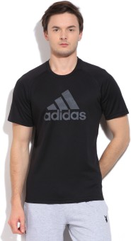 Adidas Printed Men's Round Neck T-Shirt: T-Shirt