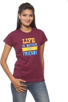 Threadz Printed Women's Round Neck T-Shirt