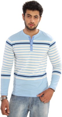 Bongio Striped Men's Henley T-Shirt