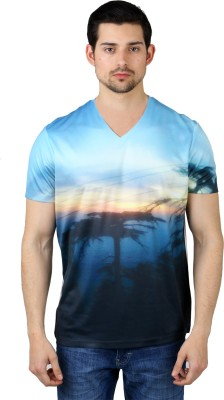 Freecultr Express Graphic Print Men's V-neck T-Shirt