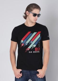 Compare Proline Round Neck Printed Men T-shirt: T-Shirt at Compare Hatke