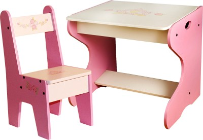 Woody wood princess study table and chair 050