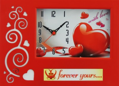 Feelings Analog Red Clock