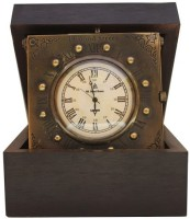 Prachin Box With Brass Body Table Clock Clock - Rosewood - Antiq Brass