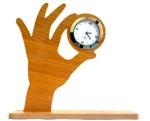 Panache Table Clocks Panache Analog Brown and Beige Clock