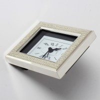 Cherrytin Silver Plated Alarm Analog Clock - Silver