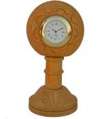 eCraftIndia Table Clocks eCraftIndia Analog Brown Clock