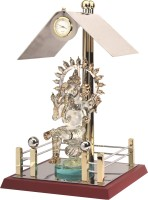 YNA Big Gorgeous Ganesha Temple Analog Clock (Gold, Silver)