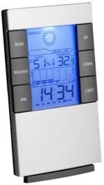 Power Plus Table Clocks Power Plus Digital Grey Clock
