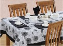 Swayam Libra Table Cover - Black, White, Pack Of 1 - TCVDXFC7Y6GNA5D2