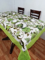 Heritagefabs Harmony 8 Seater Table Cover (Yellow, Pack Of 1)