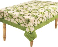 Home Glamour Flok Fun Table Cover (Light Green, Pack Of 1)