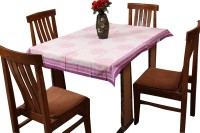 Chhipaprints Printed 8 Seater Table Cover Purple, Cotton