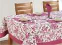 Swayam Libra Table Cover - Pink, Grey, White, Pack Of 1