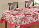 Swayam Libra Table Cover - Pink, Green, White, Pack Of 1