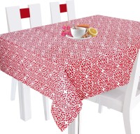 Smart Home Geometric 12 Seater Table Cover Red, Cotton
