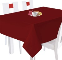 Smart Home Textile Printed 4 Seater Table Cover Red, Cotton