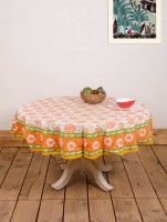 Ocean Collection Kadamba-3528-E Flower Print Table Cover (Multicolor, Pack Of 1)