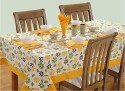 Swayam Libra Table Cover - Green, Yellow, White, Pack Of 1 - TCVDXFC7EJYQK8ZD
