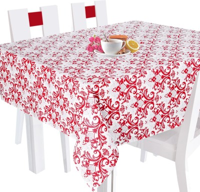 Smart Home Textile Printed 2 Seater Table Cover Red, Cotton