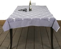 Chromatic Collections Floral 6 Seater Table Cover Purple, Cotton