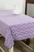 Ocean Homestore Floral 6 Seater Table Cover Purple, Cotton