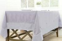 Maspar Checkered 8 Seater Table Cover Purple, Cotton