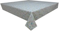 Adt Saral Bloom Table Cover (Light Blue, Pack Of 1)