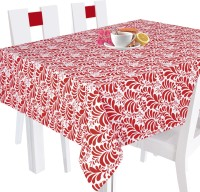 Smart Home Floral 8 Seater Table Cover Red, Cotton