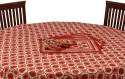 Chhipa Prints Floar Table Cover - Red, Pack Of 1 - TCVDZ4TKW7HBYHQF