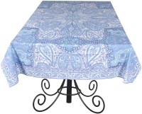 Ocean Home Store Floral 6 Seater Table Cover Blue, Cotton - TCVEMNFF6ZGHXPGS
