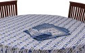 Chhipa Prints Floar Table Cover - Blue, Pack Of 1