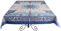 Ocean Home Store Floral 6 Seater Table Cover Blue, Cotton - TCVEMNFD8CN87VSF