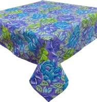 Cotonex Printed 6 Seater Table Cover Purple, Green, Cotton