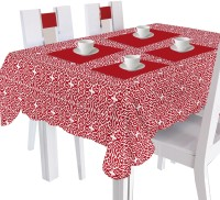 Smart Home Printed 4 Seater Table Cover Red, Cotton
