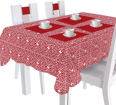 Smart Home Printed 6 Seater Table Cover Red, Cotton