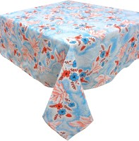 Cotonex Printed Table Cover (Light Blue, Pack Of 1)