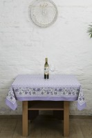 Ocean Home Store Floral 4 Seater Table Cover Purple, Cotton