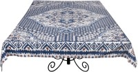 Ocean Home Store Floral 6 Seater Table Cover Blue, Cotton