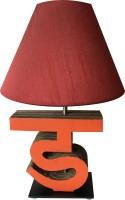Sylvn Studio Diligent DA Letter Lamp Maroon Table Lamp (40.64 Cm, Brown)