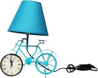 The Craz Me Lighten Up Your Time Vintage Cycle Table Lamp (40 Cm, Blue)