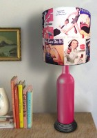 What Scrap Bottle Vintage Ads Table Lamp (50 Cm, Multicolor)