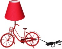 The Craz Me Light It Up Vintage Cycle Table Lamp (40 Cm, Red)