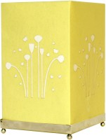 Craftter Square Flying Flowers Table Lamp (Light Green)