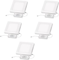 Megaway LED 18W Surface Mounted Panel Light Square Cool White -5Pcs. Ceiling Lamp (8.86 Cm, Cool White)
