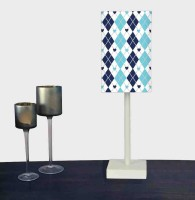 Nutcase Blue Patterns Table Lamp (51.5 Cm, Multicolor)