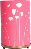 Craftter Round Flying Flowers Table Lamp (Pink)